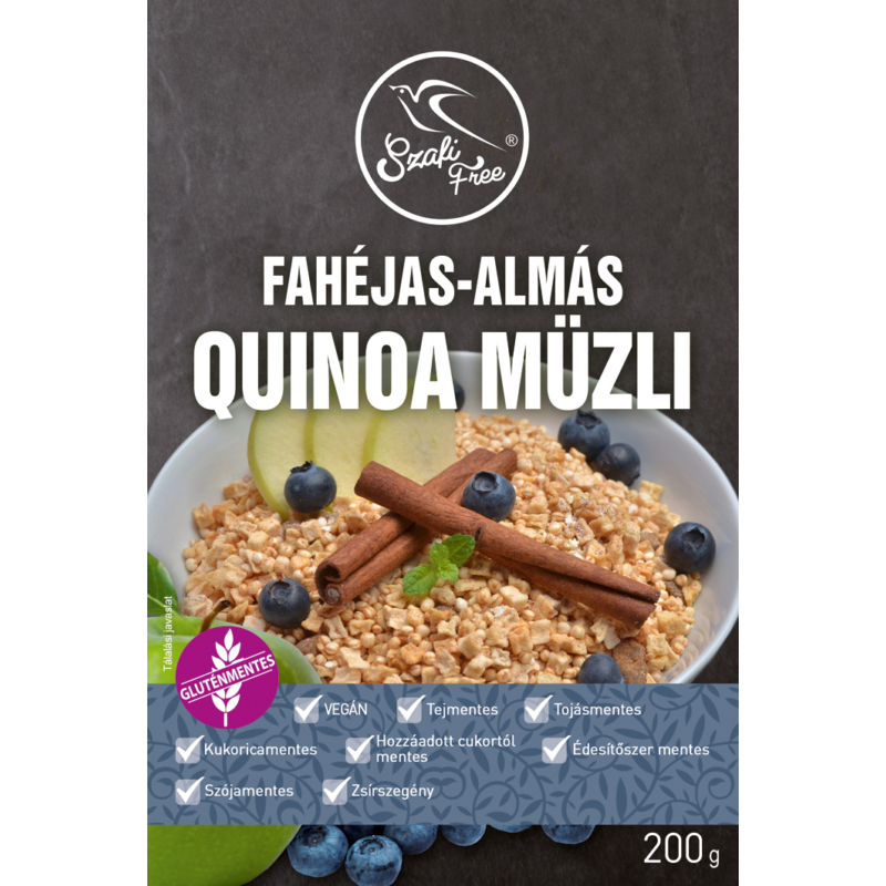 Szafi fahéjas almás quinoa müzli